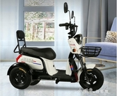 三輪車時尚女士小型家用三輪電動車成人代步接孩子三輪車不會倒翻電瓶車【快速出貨】