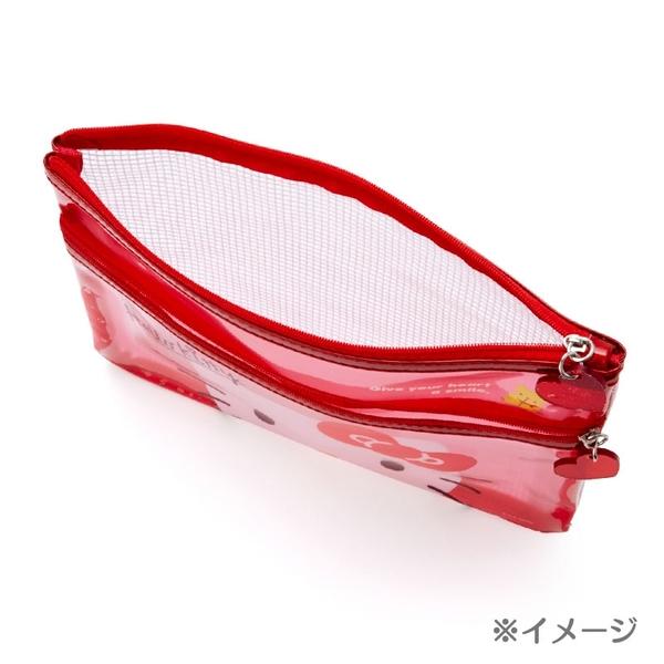 【震撼精品百貨】Pom Pom Purin_布丁狗~日本三麗鷗SANRIO~透明雙拉筆袋*58335