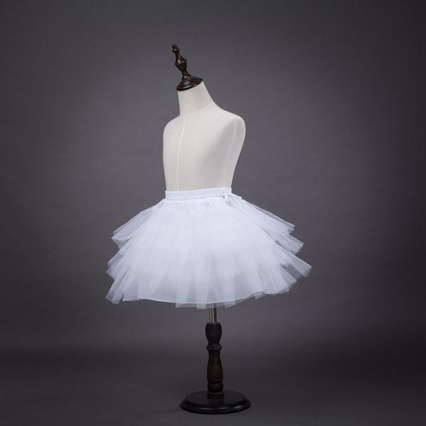 此為裙撐(非單穿) 三層硬紗短裙撐 澎澎裙 蓬蓬裙 禮服裙撐 婚禮花童 紗裙 橘魔法 童裝 兒童裙撐