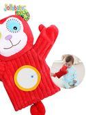 布偶 嬰兒安撫玩具毛絨手指玩偶手偶玩具動物手套可咬布偶 俏女孩