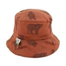 比利時 Trixie 有機棉遮陽帽/童帽~勇敢小熊(48|50|52cm)