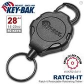 """美國KEY BAK Ratch-It 鎖定系列 28"""" 極度負重伸縮鑰匙圈(附扣環)(公司貨)#0KR2-5A11"""