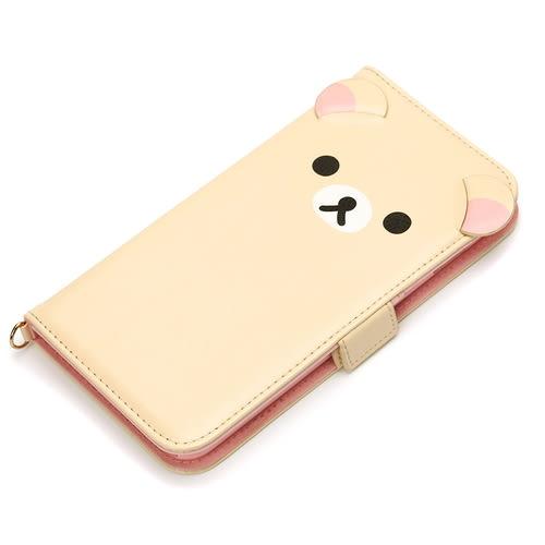 尼德斯Nydus~* 日本正版 拉拉熊 懶懶熊 翻頁皮套 手機殼 5.5吋 iPhone6+ plus 牛奶妹 小白熊