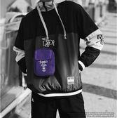 潮牌嘻哈小斜挎包 單肩包 男青年手機包 迷你原宿街頭潮流背包 時尚蹦迪包 青年休閒斜肩包