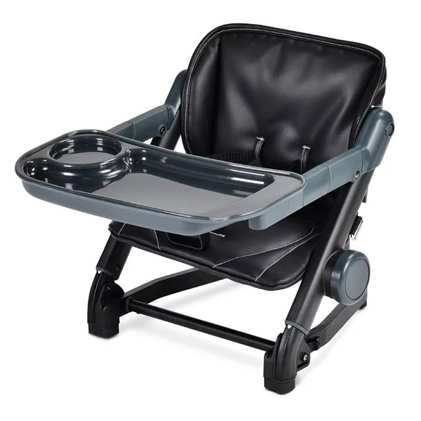 英國 unilove Feed Me 攜帶式寶寶餐椅/珍珠奶茶色系-椅身+皮革墊(黑糖珍珠黑)[衛立兒生活館]