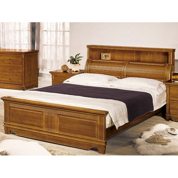 床架 床台 PK-104-1 樟木全實木5尺雙人床 (不含床墊) 【大眾家居舘】