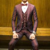 主持人西服套裝男新郎結婚禮服帥氣伴郎服裝宴會司儀西裝 星辰小鋪