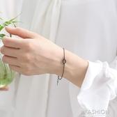 925純銀暗黑系星球手鏈甜美衛星手鐲首飾閨蜜飾品禮物女-ifashion
