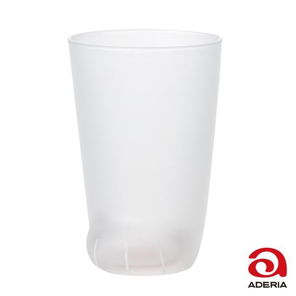 日本ADERIA 可愛貓掌肉球玻璃杯300ml-透明