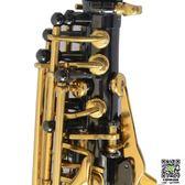 薩克斯 亨韻樂器降B調分體高音薩克斯黑鎳金鍵雕花風管  igo薇薇