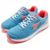 DIADORA 慢跑鞋 藍 粉紅 熱情嘉年華輕跑鞋 透氣網布 超輕量大底 運動鞋 女鞋【PUMP306 DA8AWR6026