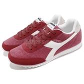 DIADORA 復古慢跑鞋 Jog Light C 紅 白 基本款 經典款 水洗帆布 運動鞋 男鞋 女鞋【PUMP306】 DA17157845038