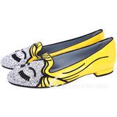 Chiara Ferragni Super Heroes系列 Flash Girl 造型樂福鞋(銀x黃) 1620626-66