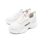 【南紡購物中心】WALKING ZONE(女)網布綁帶休閒鞋老爹鞋 厚底鞋女鞋-白(另有黑)