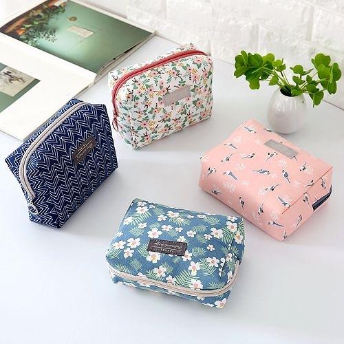 韓國棉質簡約可愛化妝包 洗漱包 便攜隨身旅行收納包 小方包