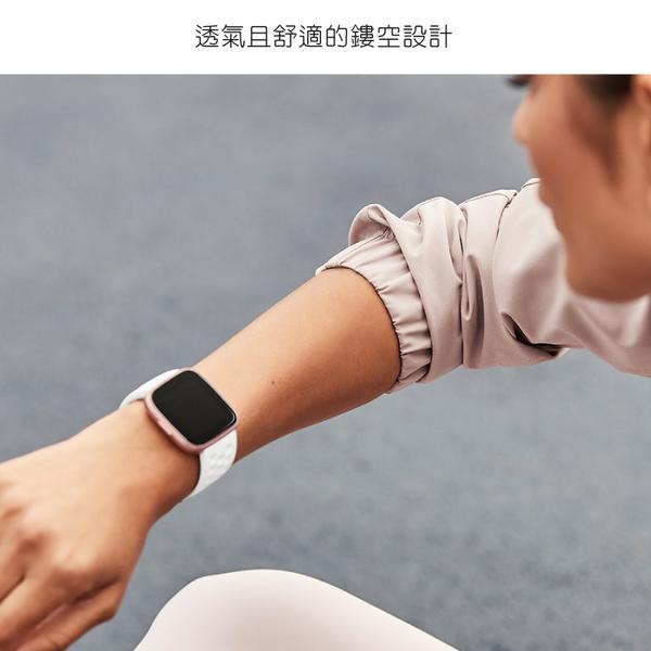 Fitbit VERSA 運動錶帶 防水 透氣 黑 白 智慧手錶錶帶 群光公司貨