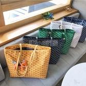 包包女2020新款百搭韓國東大門狗牙包大容量購物袋單肩手提拖特包 小明同學