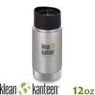 【KLEAN KANTEEN 美國 12盎K寬口保溫鋼瓶(54mm)《原色鋼》】K12VWPCC/保溫杯/保溫瓶/咖啡瓶蓋