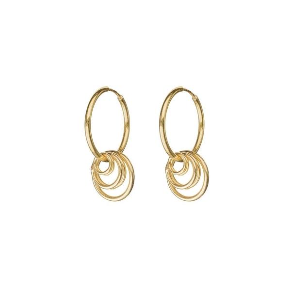CINCO  層次圓圈925純銀鍍24K金耳環 PIA EARRINGS
