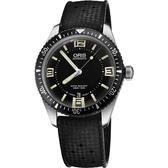 ORIS 豪利時 Divers Sixty-Five 1965復刻潛水機械錶-黑/40mm 0173377074064-0742018