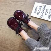 英倫鞋 原宿繫帶軟妹小皮鞋女英倫學院風鞋子女學生大頭鞋單鞋女韓版百搭 時尚芭莎