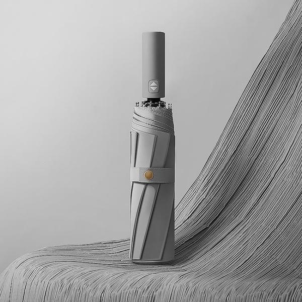 德國高級灰全自動雨傘男士抗風大號加固摺疊晴雨兩用男女s簡約傘 「99購物節」
