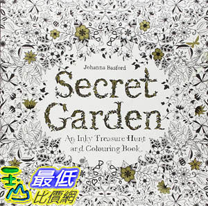 [104美國直購] 2015 美國暢銷書排行榜 Secret Garden: An Inky Treasure Hunt and Coloring Book