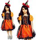 南瓜巫婆仙子裝+頭飾 兒童造型服白雪公主迪士尼米奇聖誕舞會派對服裝表演灰姑娘公主