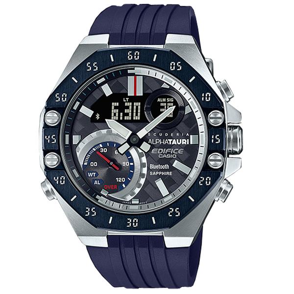 CASIO 卡西歐 手錶專賣店 ECB-10AT-1A EDIFICE F1 車隊聯名錶 男錶 橡膠錶帶 防水100米 ECB-10AT