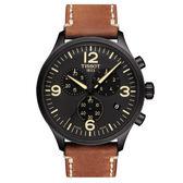 【僾瑪精品】TISSOT 天梭 韻馳系列 Chrono XL 計時腕錶-咖啡x黑/45mm/T1166173605700