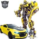 遙控玩具 變形金剛玩具兒童感應充遙控汽車男孩大黃蜂機器人LXY4172【極致男人】