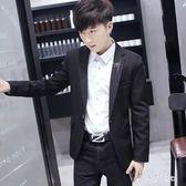 2018新款男士休閒西裝外套青年英倫韓版單裝 js3571『科炫3C』