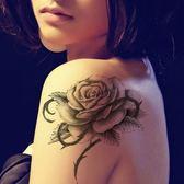 花臂紋身貼紙  大號  玫瑰花蝴蝶  122 日韓系水轉印紋身貼紙 想購了超級小物