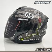 M2R 半罩 安全帽 FR-2 FR2 #5 66號公路 消光黑|23番 內藏墨鏡 抗UV強化耐磨 內襯全可拆