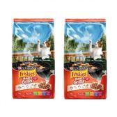 Friskies 喜躍香烤肉汁口味配方貓乾糧-1.2kgX2包