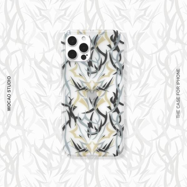 蘋果iphone12/mini手機殼11promax男78plus女xs潮牌se直邊xr荊棘 晴天時尚