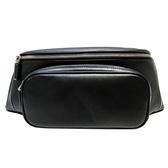 PRADA 普拉達 黑色牛皮拉鍊腰包 Belt Bag 2VL006【二手名牌BRAND OFF】