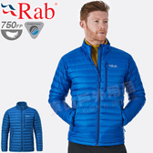 Rab QDA94-CE神聖藍 男輕量保暖立領羽絨外套 Microlight羽絨夾克/防寒衣/機能服/戶外風衣/可當中層衣
