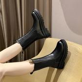 網紅ins馬丁靴女2021新款百搭韓版英倫風中筒靴厚底切爾西短靴女 8號店