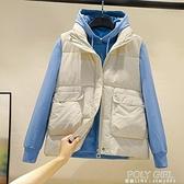 2021冬新款羽絨棉馬甲女短款坎肩背心外套面包服棉馬夾襖韓版休閒 夏季新品