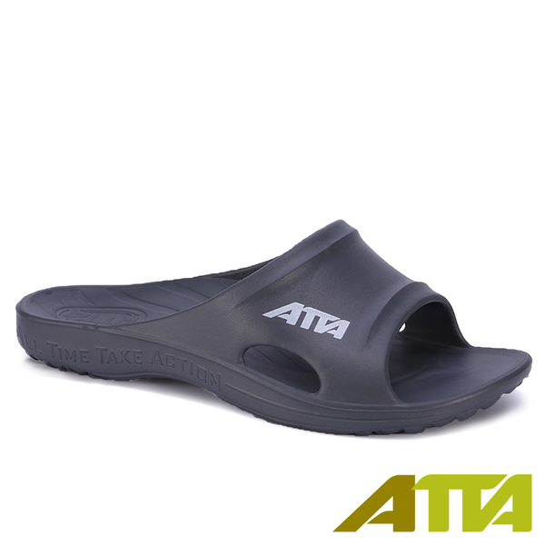 【333家居鞋館】足底均壓 ATTA足弓簡約休閒拖鞋-鐵灰色