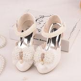公主鞋 女童高跟鞋 舞蹈鞋 中大童皮鞋包頭
