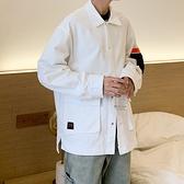 休閒夾克-立領大口袋寬鬆短款純色男外套3色73zm26[巴黎精品]