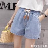 春裝2020款韓版寬鬆高腰薄款休閒牛仔短褲子大碼女裝寬管熱褲外穿 雙十一全館免運