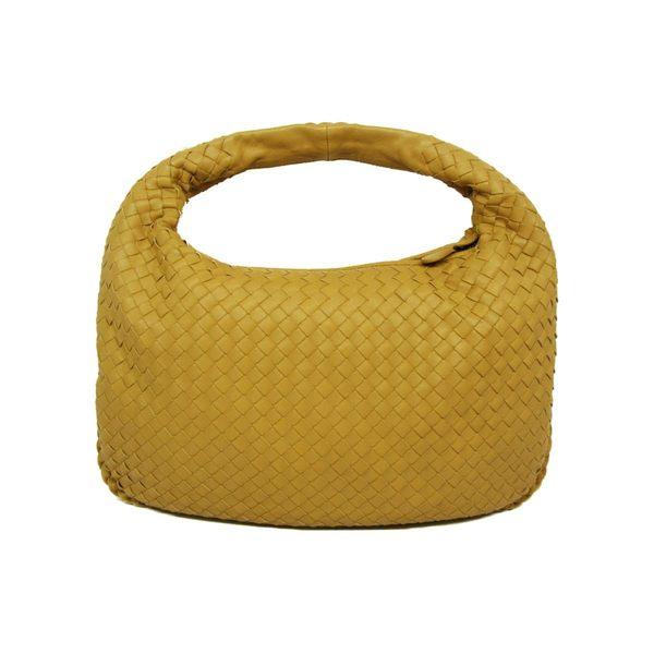 BOTTEGA VENETA 粉膚色羊皮編織肩背包和尚包 【BRAND OFF】
