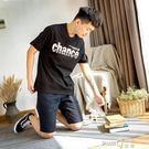 唐獅短袖T恤男潮流2019夏季新款韓版寬鬆文字印花青少年學生衣服  【PINKQ】