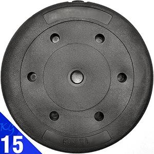 PVC包膠15KG水泥槓片15公斤槓鈴片啞鈴片.重力重訓配件用品.舉重量訓練設備.運動健身器材