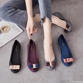 魚嘴涼鞋 平底果凍單鞋女時尚簡約多色魚嘴防水雨鞋防滑孕婦沙灘鞋2020新款 圖拉斯3C百貨