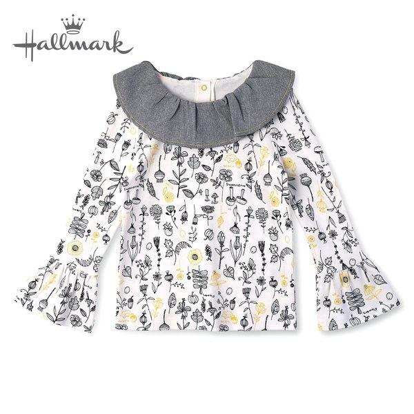 Hallmark Babies 秋冬女童滿版花花長袖上衣 HH3-Y01-09-KG-DG