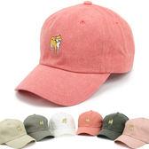 韓國進口Flipper男女潮牌鴨舌帽時尚刺繡狗柴犬可愛兒童棒球帽   初見居家
